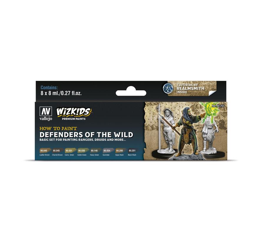 Vallejo Defenders of the Wild - Wizkids Premium Paints - 8 kleuren - 8ml - 80255