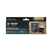 Vallejo Wood & Steel - Wizkids Premium Paints - 8 kleuren - 8ml - 80256