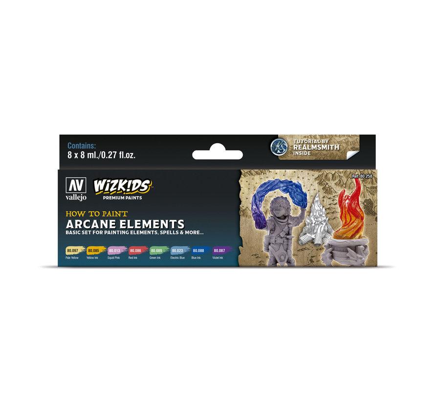 Vallejo Arcane Elements - Wizkids Premium Paints - 8 kleuren - 8ml - 80258