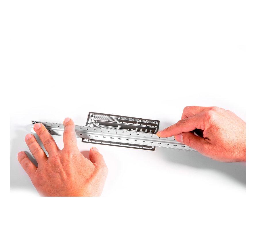 AK interactive Metallic Multi Scale Triangular Ruler - 30cm - AK9049