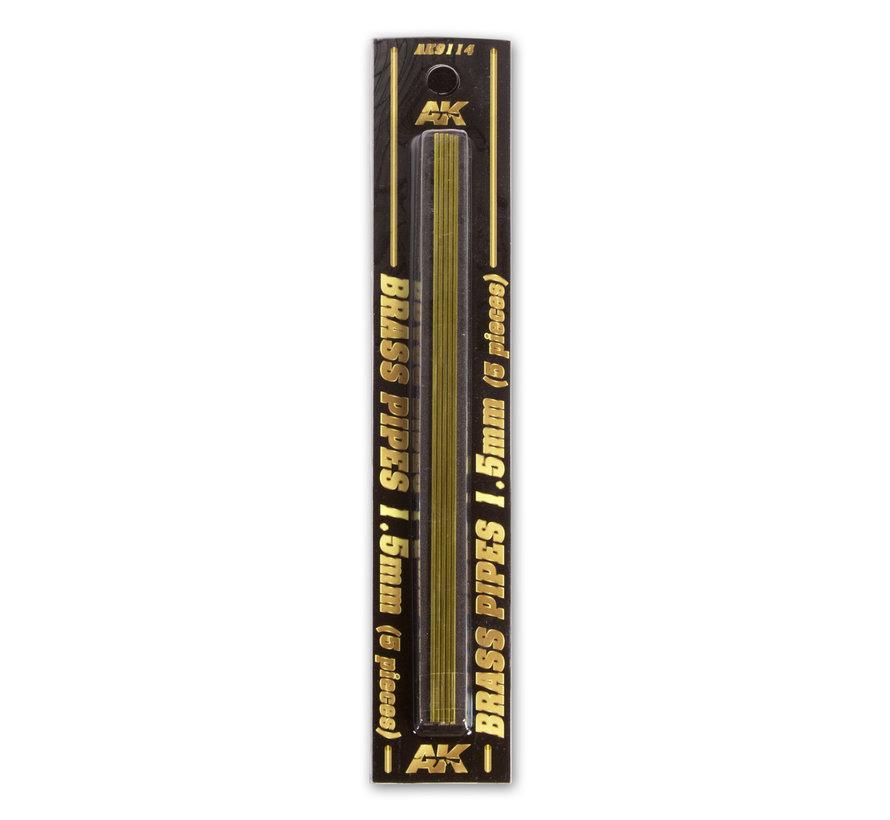 AK interactive Brass Pipes 1,5mm - 5x - AK9114