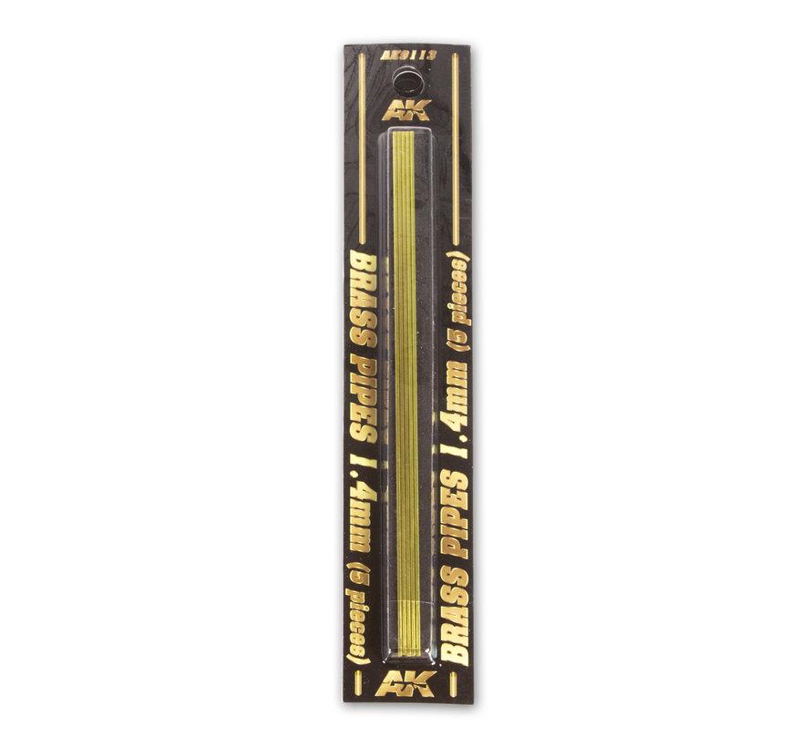 AK interactive Brass Pipes 1,4mm - 5x - AK9113