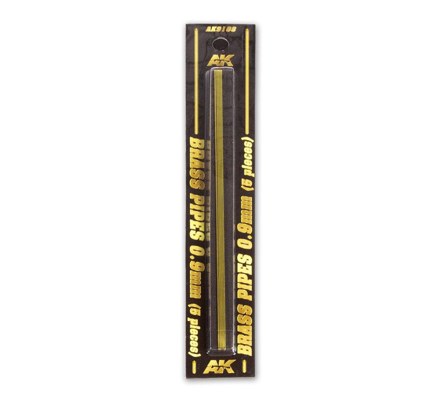 AK interactive Brass Pipes 0,9mm - 5x - AK9108