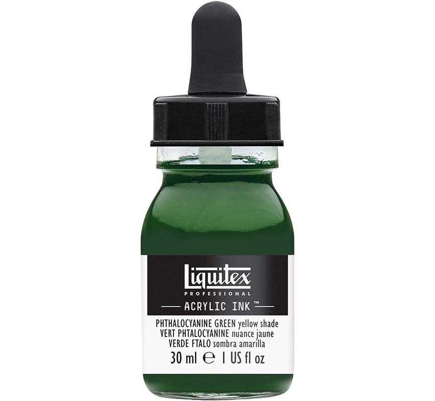 Liquitex Professional Acryl Ink! Phthalocyanine Green Yellow Shade - 30ml - 319 - 4260319