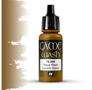 Vallejo Game Color Wash Sepia Shade - 17ml - 73200