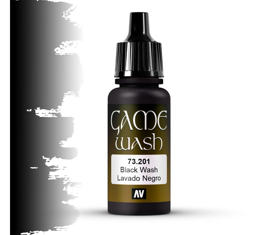 Game Color Wash Black Shade - 17ml - 73201