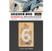 Liang Salt Weathering Effects Sparse Airbrush Stencils - LIANG-0006