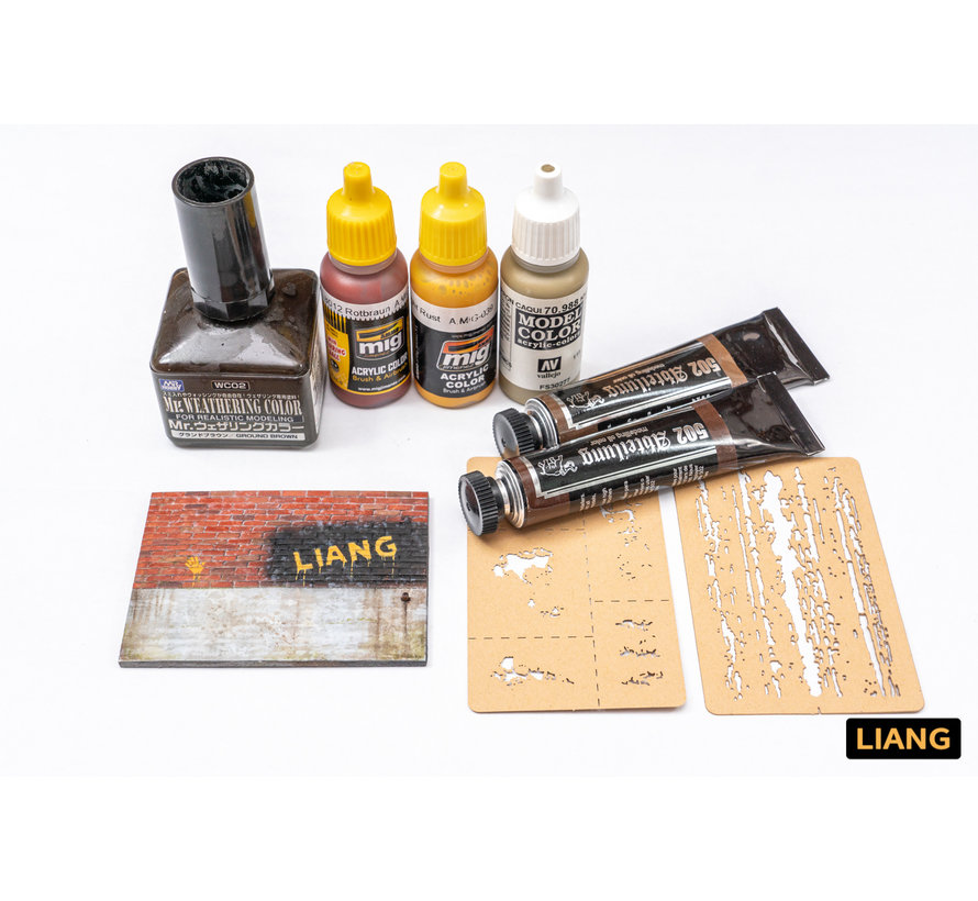 Liang Chipping Effects Airbrush Stencils - LIANG-0009