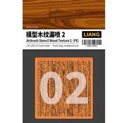 Liang Wood Texture 2 Airbrush Stencils - LIANG-0302