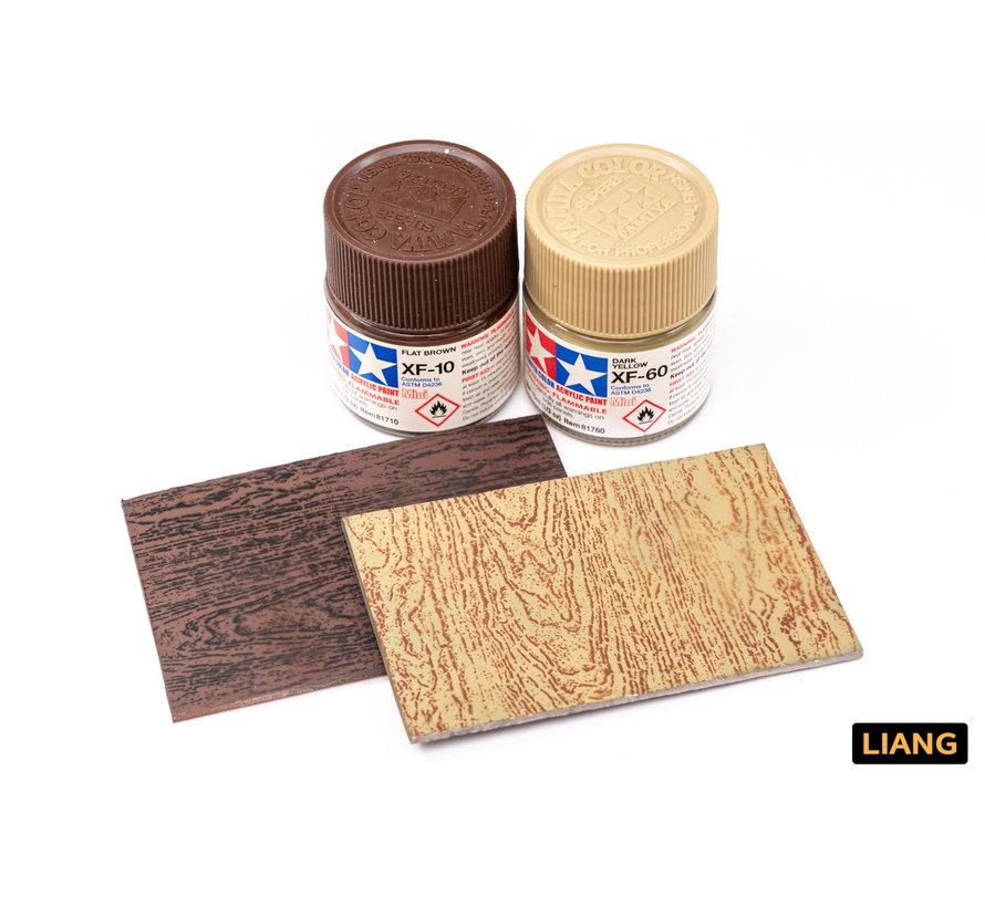 Liang Wood Texture 3 Airbrush Stencils - LIANG-0303