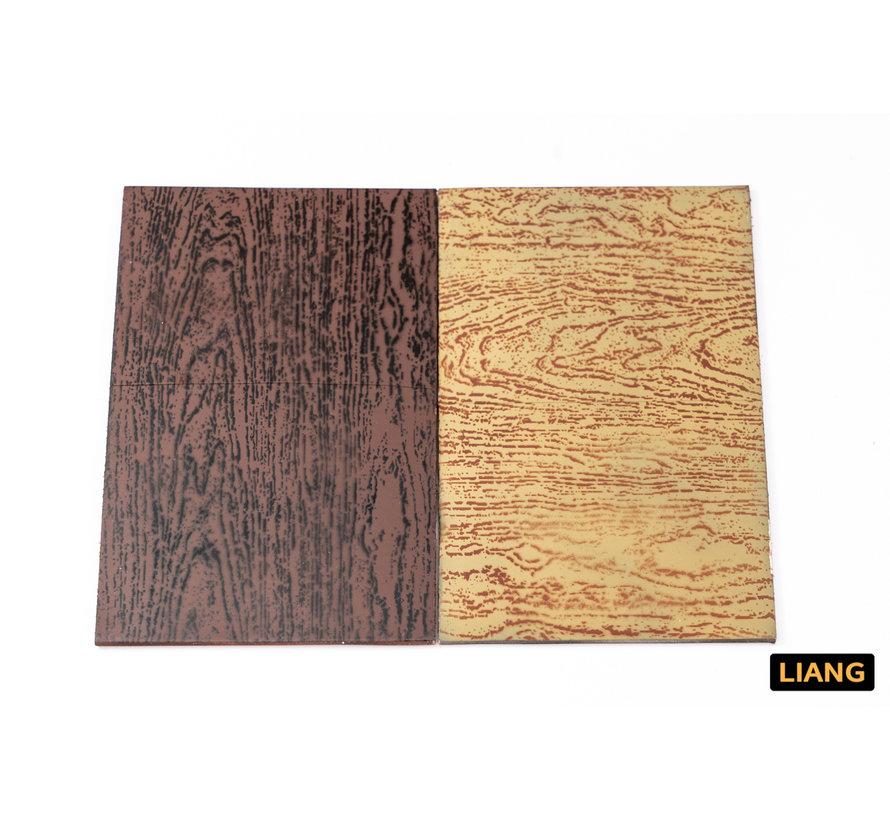 Liang Wood Texture 4 Airbrush Stencils - LIANG-0304