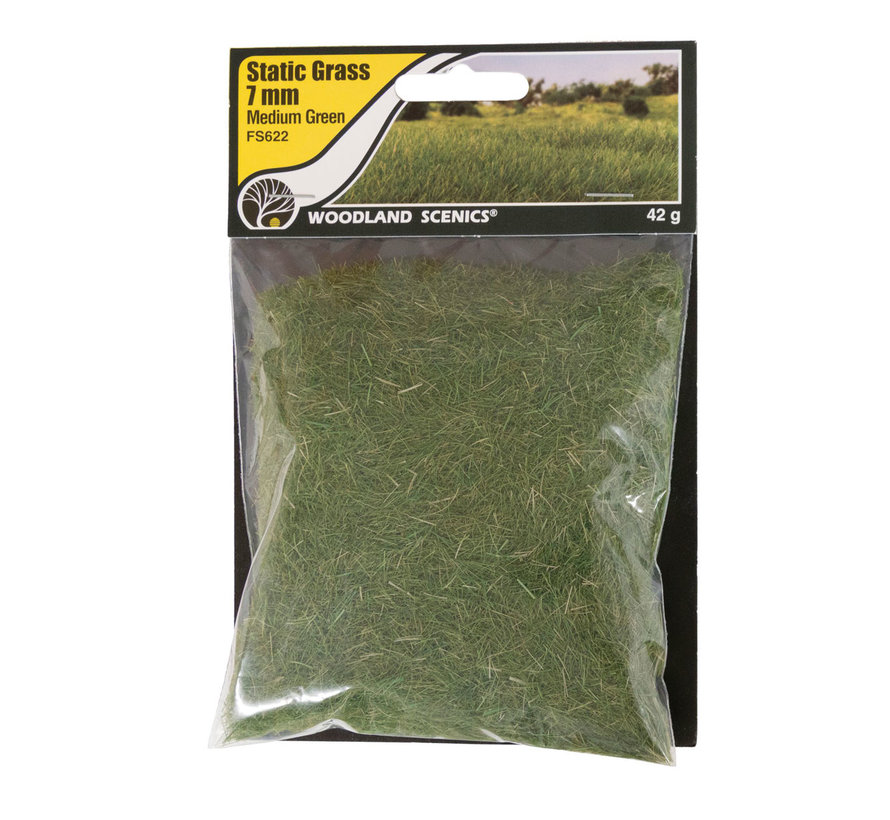 Woodland Scenics Static Grass Medium Green 7mm - 42gr - FS622