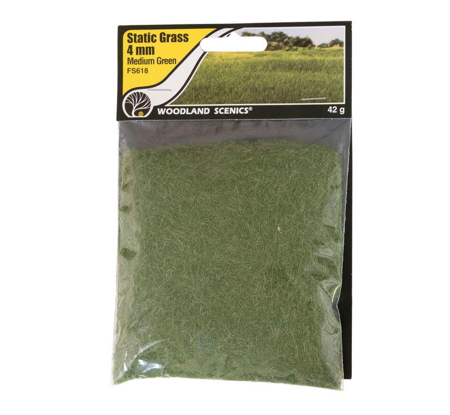 Woodland Scenics Static Grass Medium Green 4mm - 42gr - FS618