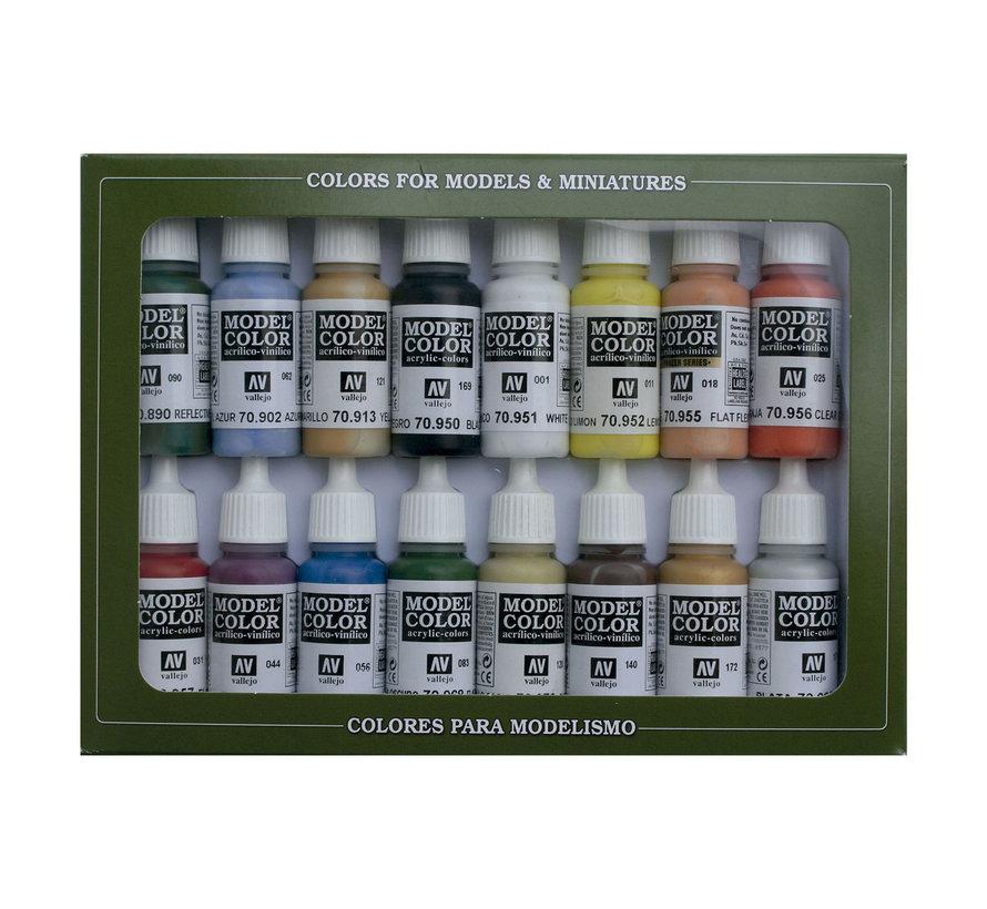 Model Color Set Basic Colors USA - 16 kleuren - 17ml - 70140