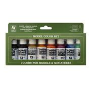 Vallejo Model Color Transparant Colors - 8 kleuren - 17ml - 70136