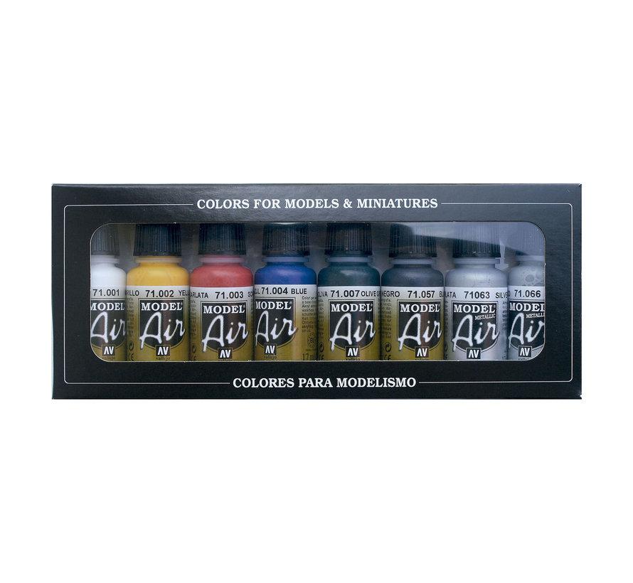 Model Air Basic Color Set - 8 kleuren - 17ml - 71174