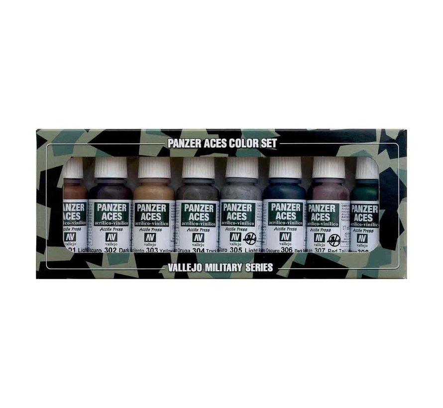 Model Color Panzer Aces No1 - Rust, tracks, rubber - 8 kleuren - 17ml - 70122