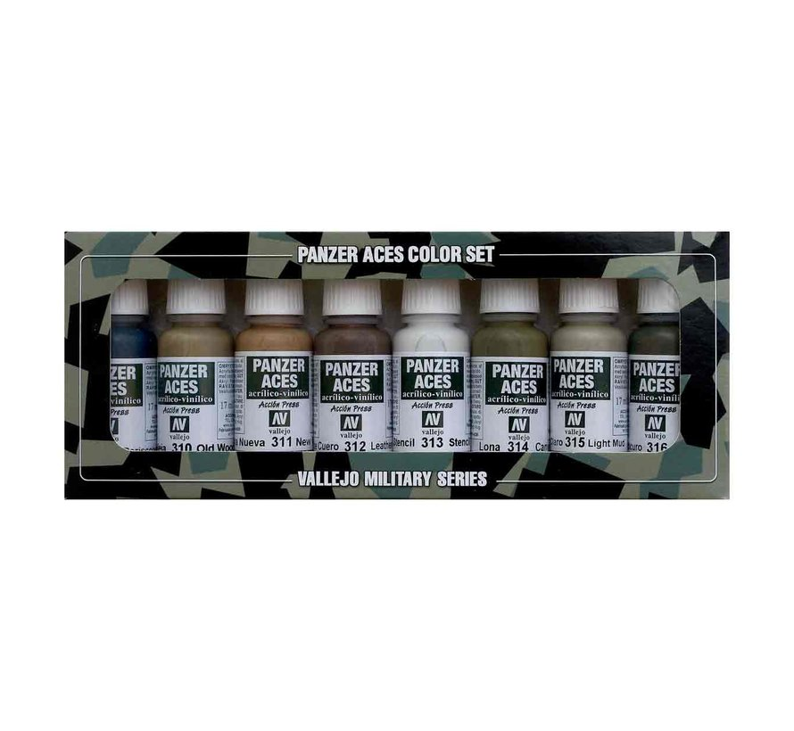 Model Color Panzer Aces No2 - Wood, leather, stencil - 8 kleuren - 17ml - 70123