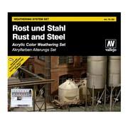 Vallejo Model Color Rust and Steel - 8 kleuren -17ml - 70150