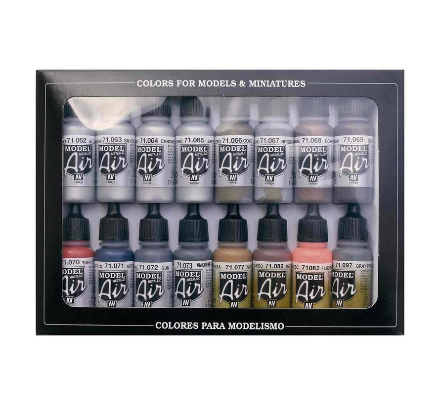 Model Air Metallic Effects - 16 kleuren - 17ml - 71181