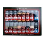 Vallejo Game Color Set Leather and Metal - 16 kleuren - 17ml - 72291