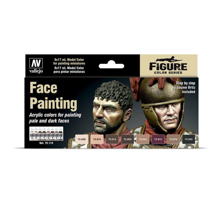 Model Color Face Painting Set - 8 kleuren - 17ml - 70119