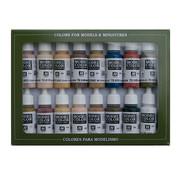 Vallejo Model Color Set Face & Skintones - 16 kleuren - 17ml - 70125