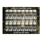 Vallejo Model Color Panzer Aces Camouflage Colors - 16 kleuren - 17ml - 70179