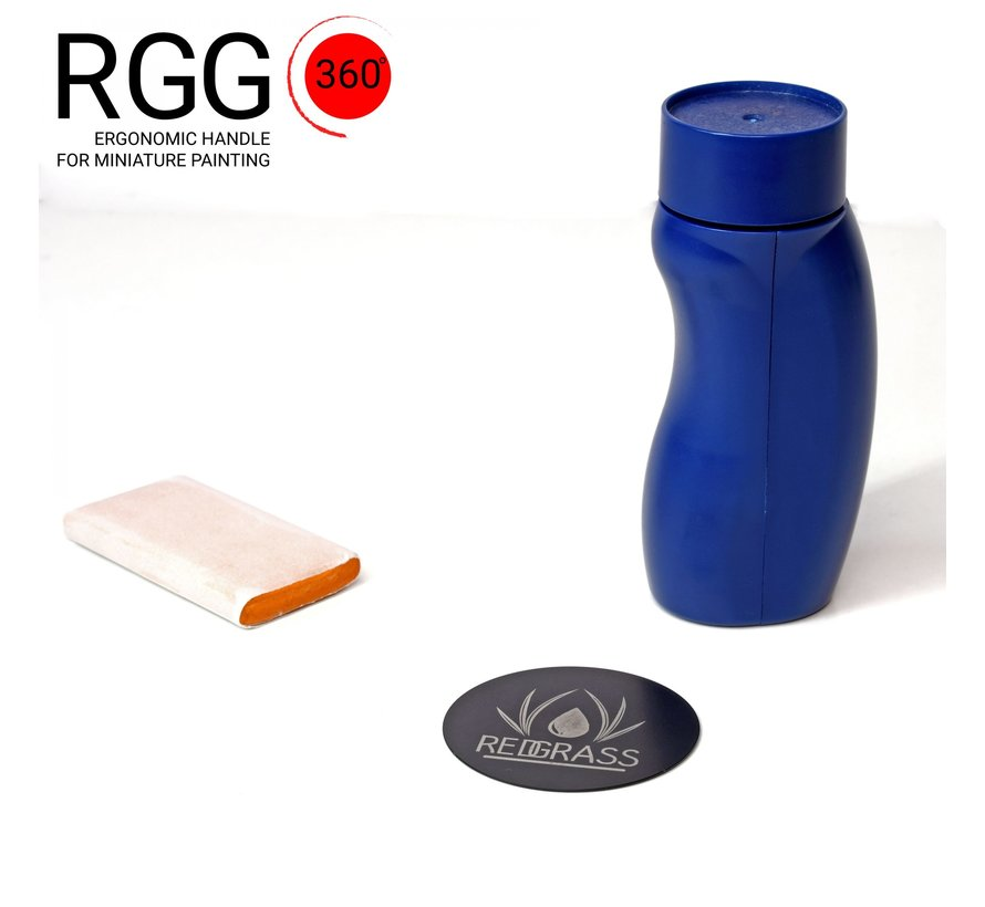Redgrassgames 360 ° Miniatuurhouder V2 - RGG360-MAG-BL