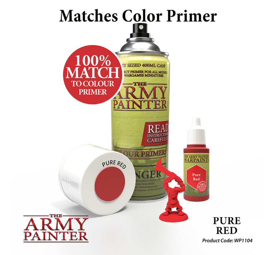 The Army Painter Pure Red - Warpaint - 18ml - WP1104
