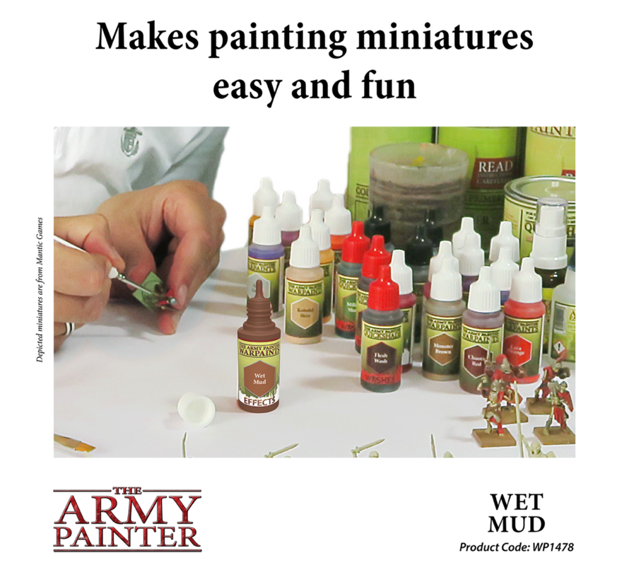 The Army Painter Wet Mud - Warpaint - 18ml - WP1478