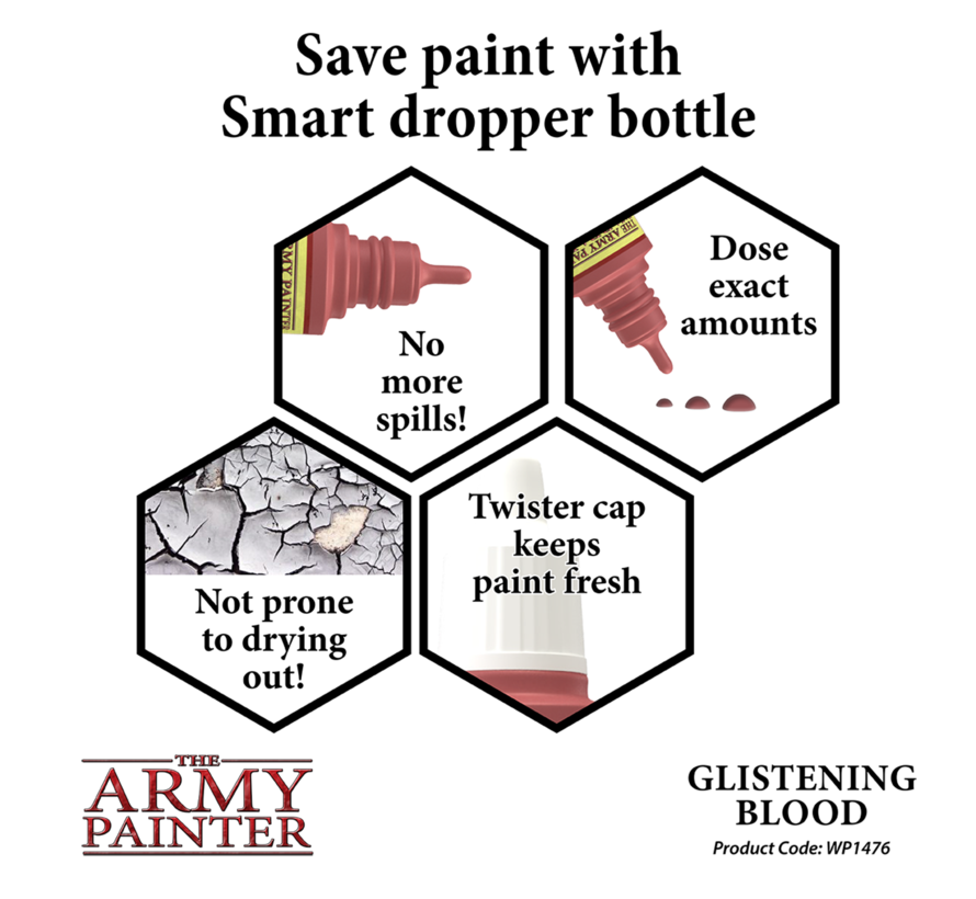 The Army Painter Glistening Blood - Warpaint - 18ml - WP1476