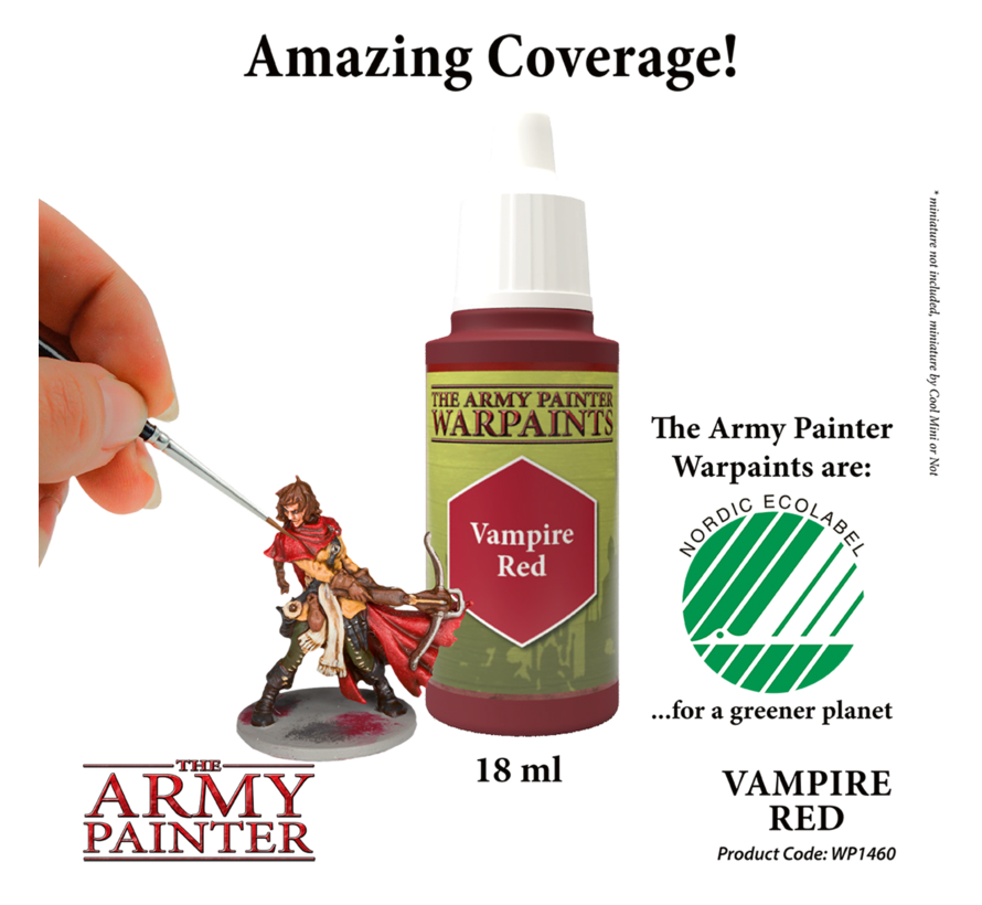 The Army Painter Vampire Red - Warpaint - 18ml - WP1460