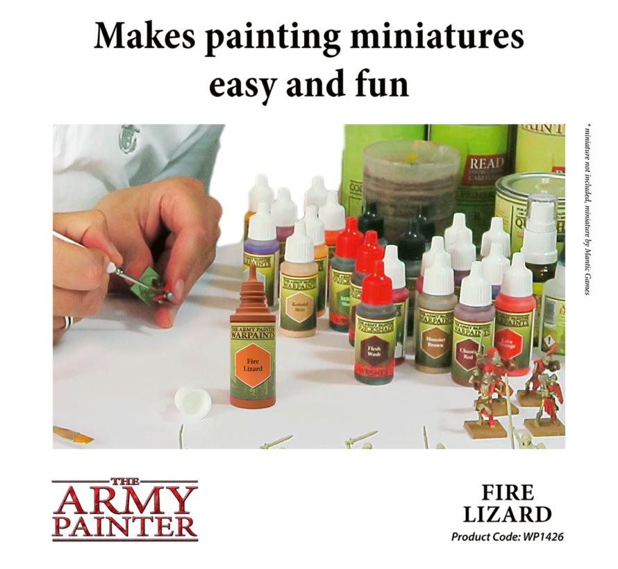 The Army Painter Fire Lizard - Warpaint - 18ml - WP1426