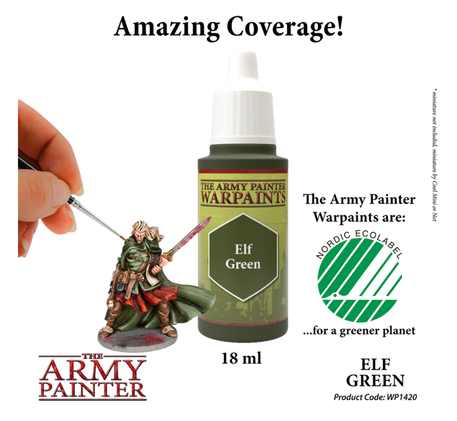 The Army Painter Elf Green - Warpaint - 18ml - WP1420
