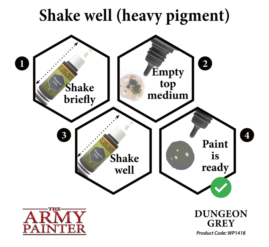 The Army Painter Dungeon Grey - Warpaint - 18ml - WP1418