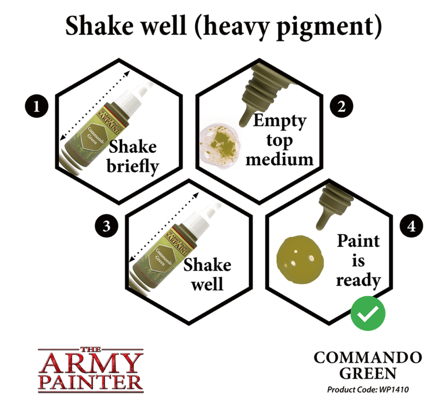 The Army Painter Commando Green - Warpaint - 18ml - WP1410