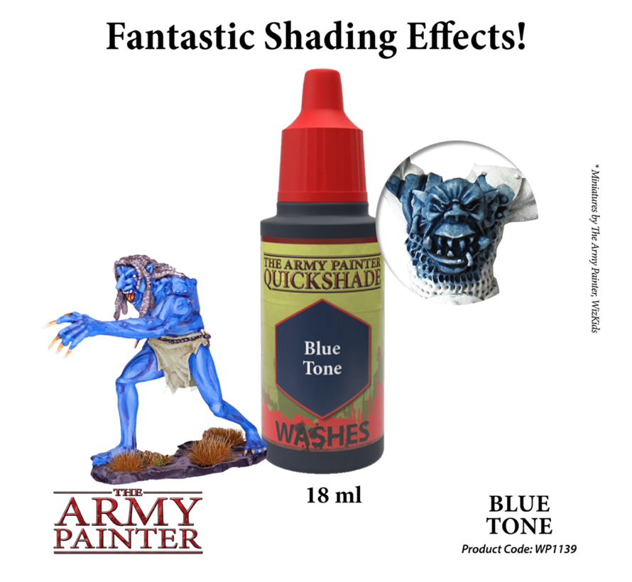 The Army Painter QS Blue Tone Ink - Warpaint - 18ml - WP1139