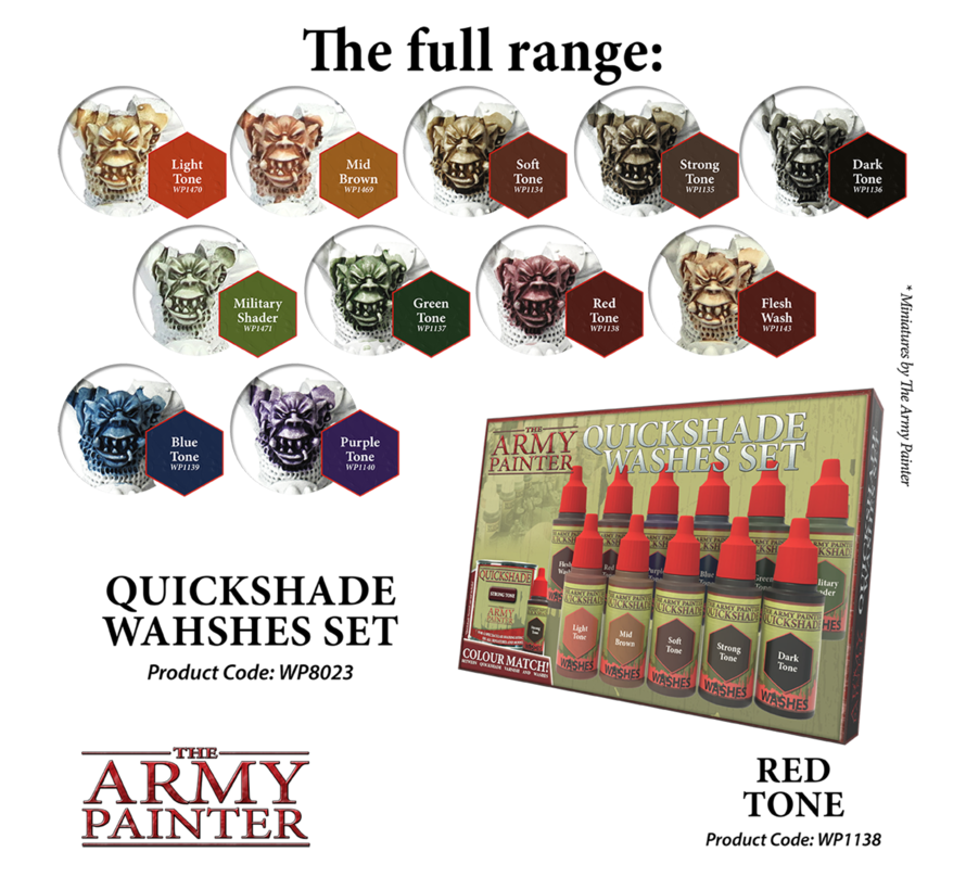 The Army Painter QS Red Tone Ink - Warpaint - 18ml - WP1138