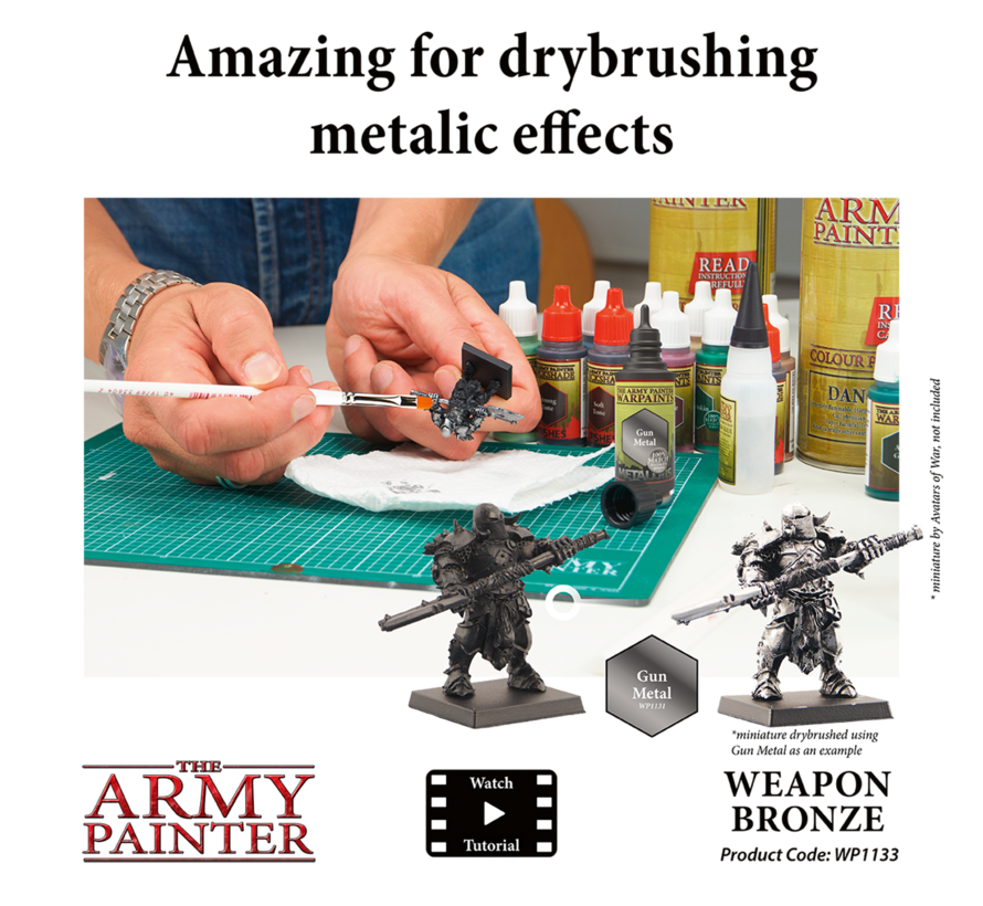 The Army Painter Weapon Bronze - Warpaint - 18ml - WP1133