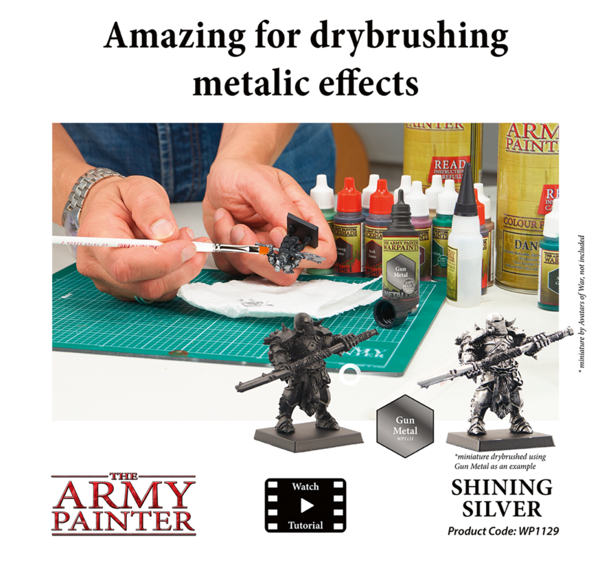 The Army Painter Shining Silver - Warpaint - 18ml - WP1129