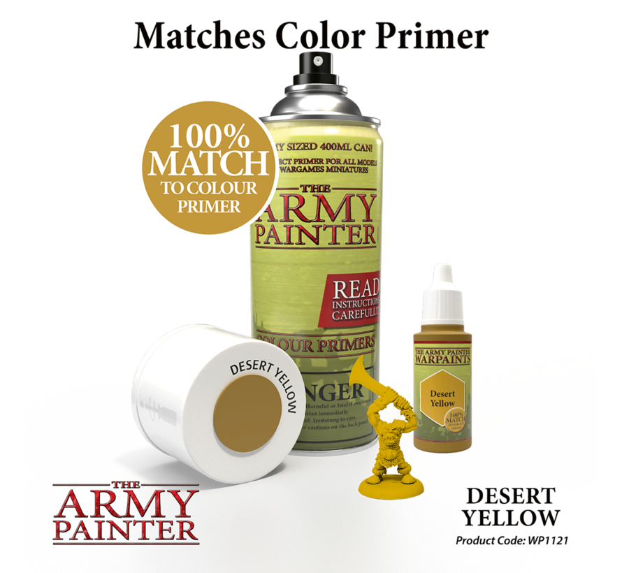 The Army Painter Desert Yellow - Warpaint - 18ml - WP1121