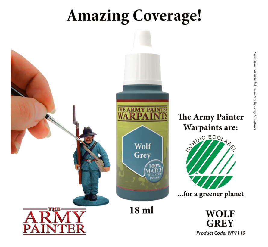 The Army Painter Wolf Grey - Warpaint - 18ml - WP1119