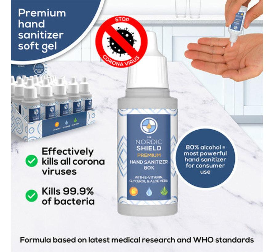De Nordic Shield Handdesinfectie 80% - 18 ml - NS2008P