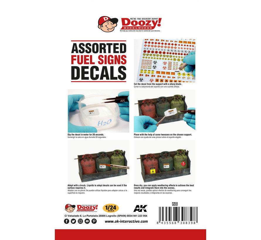 Doozy Fuel Signs Decals - DZ035