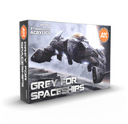 AK interactive Grey For Spaceships - 6 kleuren - 17 ml - AK11614