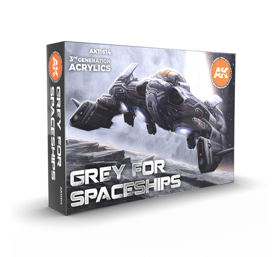 AK interactive Grey For Spaceships - 6 colors - 17ml - AK11614