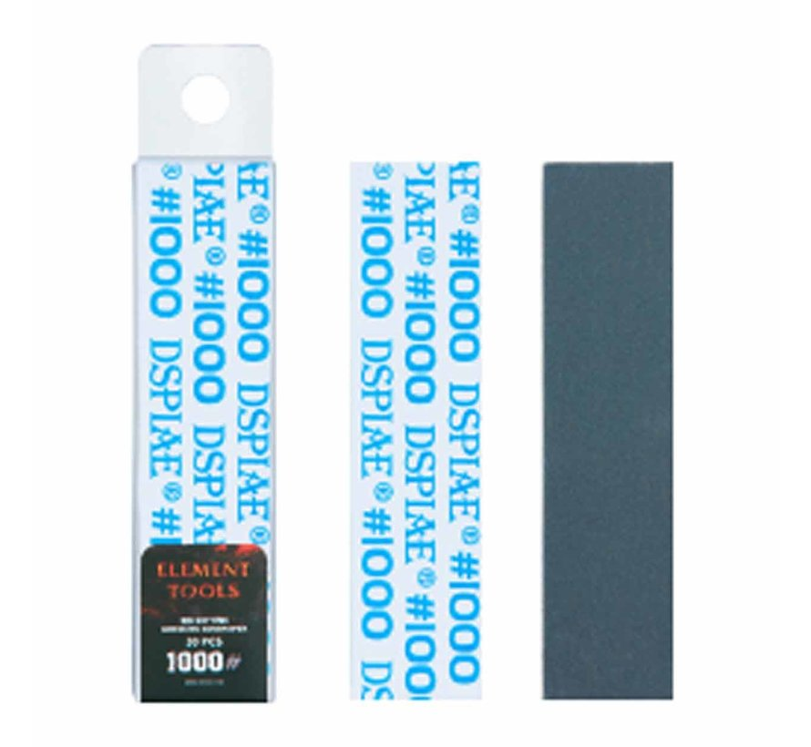 DSPIAE Adhesive Sandpaper for AT-MA  1000 grit strips - 90x23mm - 30x - WSP-MA1000