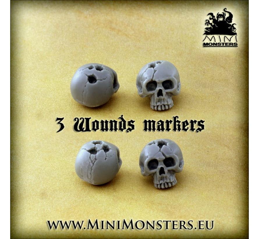 Mini Monsters Skulls - Markers - 28x - MM-0108