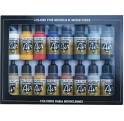 Vallejo Model Air Basic Color Set - 16 kleuren - 17ml - 71178